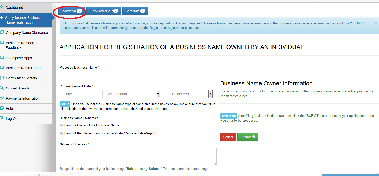 how to cancel ontario business name registration